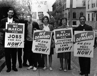 1963 March on Washington protesters from maine