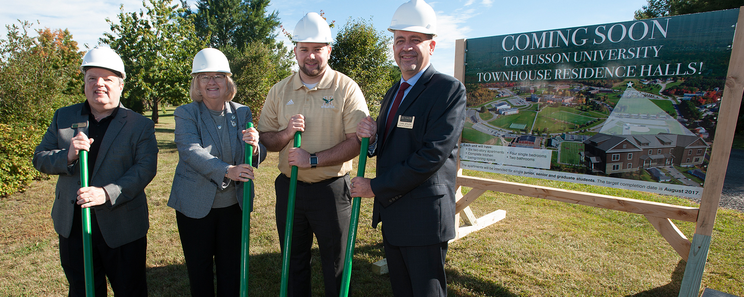 Groundbreaking for New Residence Halls