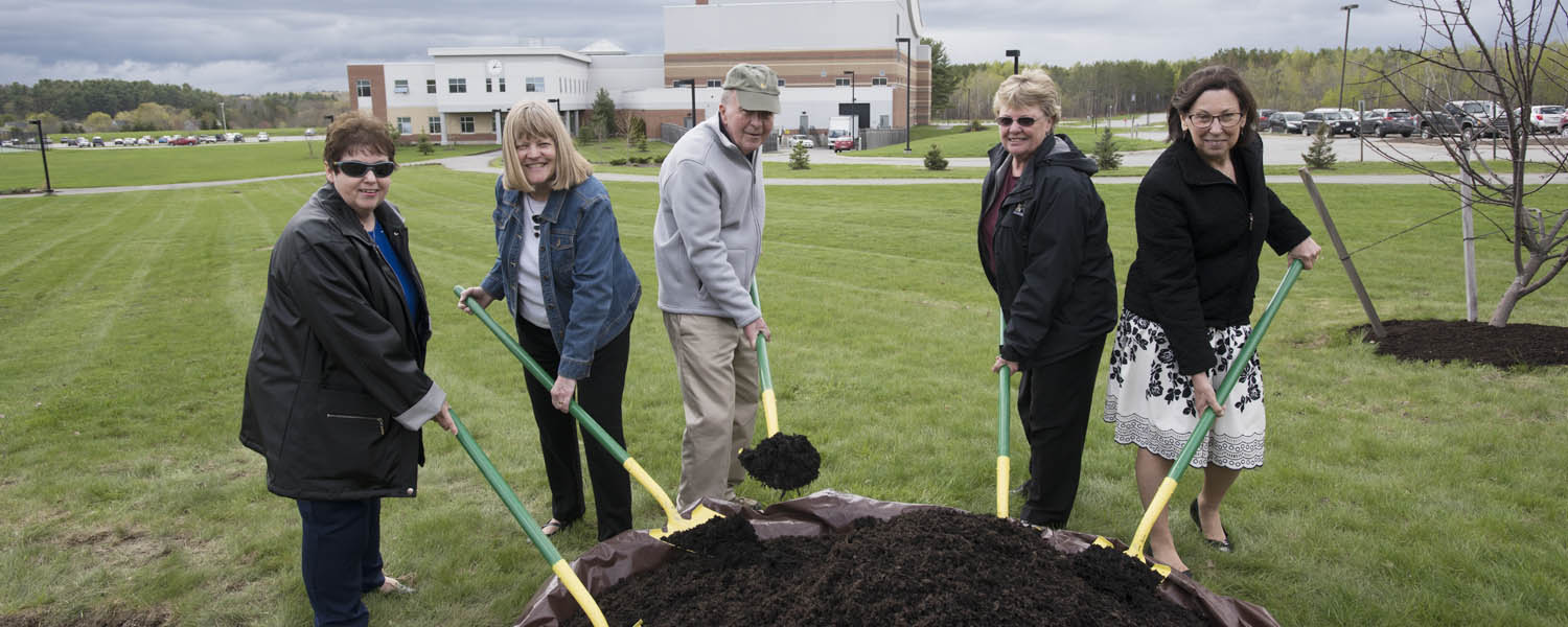 Tree Planting Ceremony Honors Retirees.