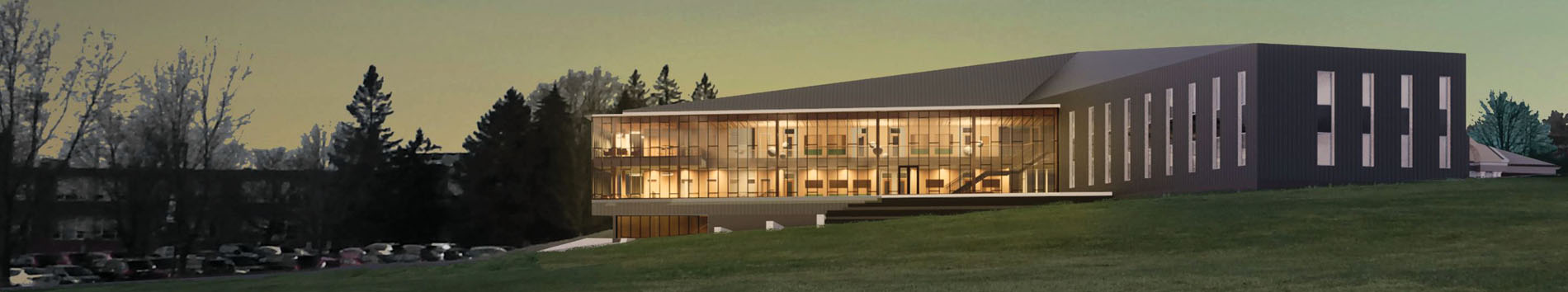 A rendering of the new College of Business building