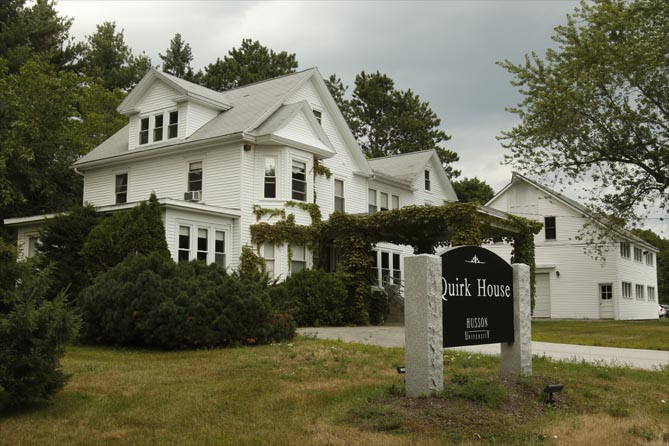 outside view of the quirk house