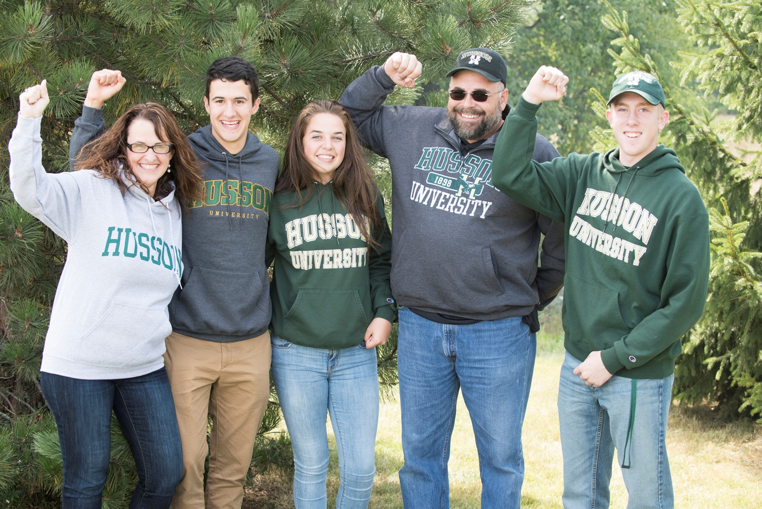 Students and parents attend Husson Homecoming