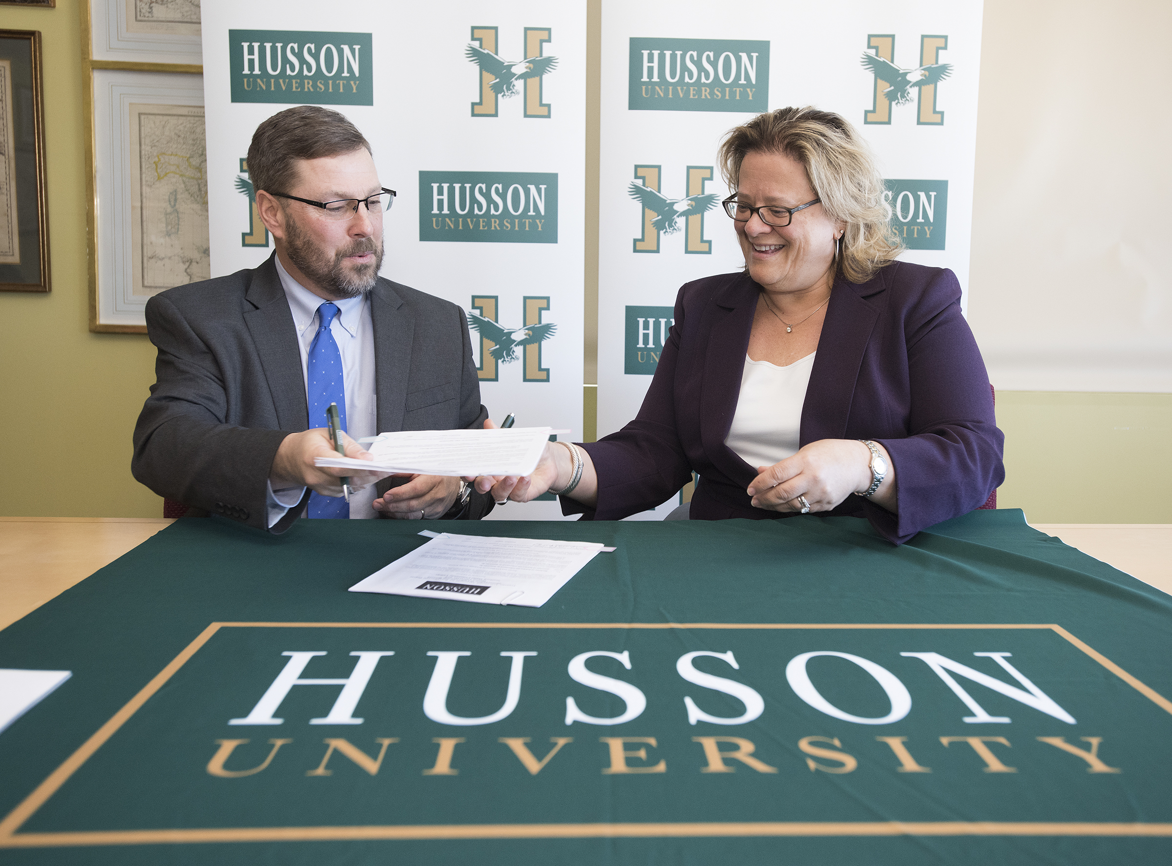 Signing Ceremony between Husson University and Southern Maine Community College