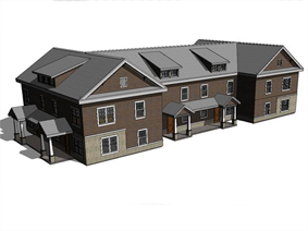Townhouse rendering - color