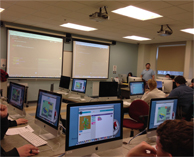 Integrated Technology classroom at Husson University