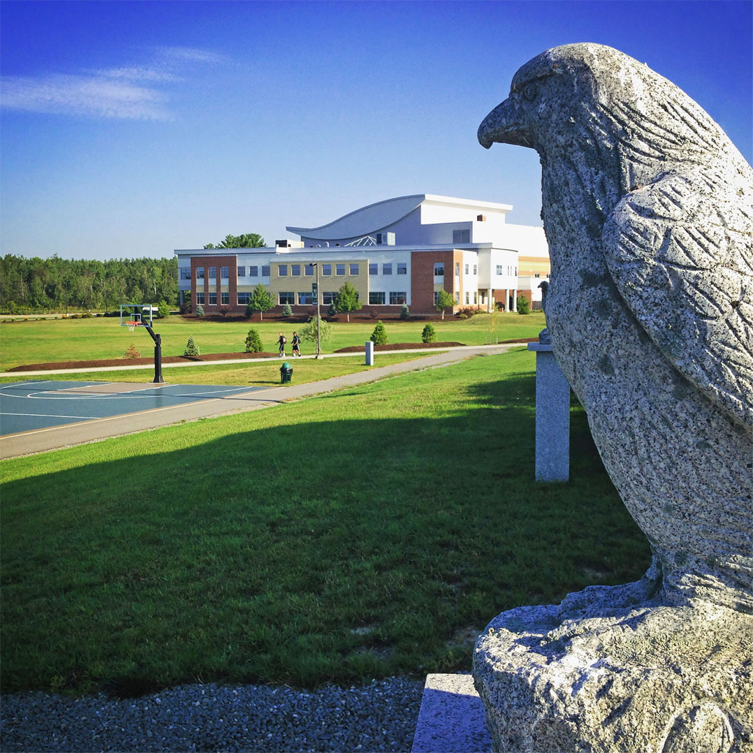 The Eagle statue on the campus of Husson University