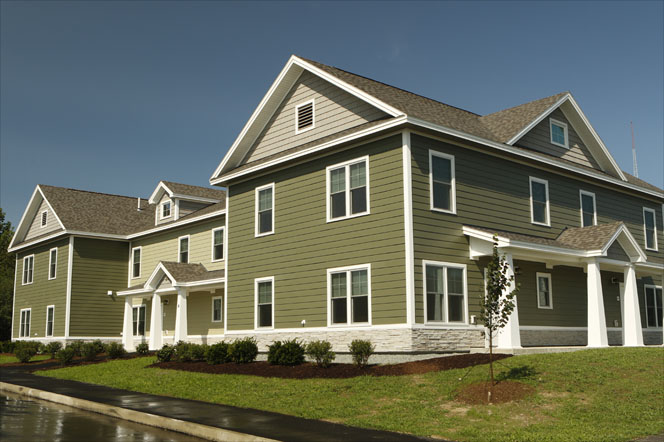 This is an image of the Husson Townhouses